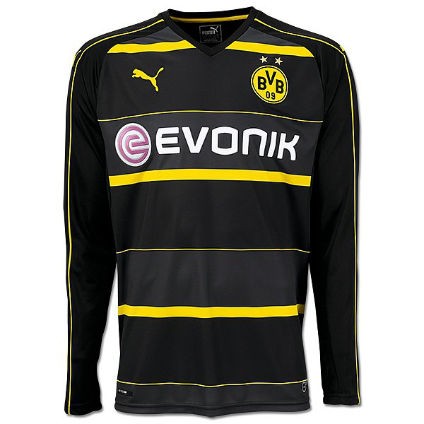 borussia dortmund ausw rts trikot 2016 17 langarm. Black Bedroom Furniture Sets. Home Design Ideas