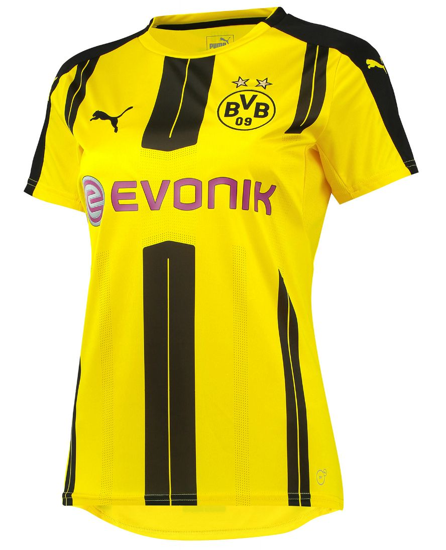 borussia dortmund frauen trikot 2016 17. Black Bedroom Furniture Sets. Home Design Ideas