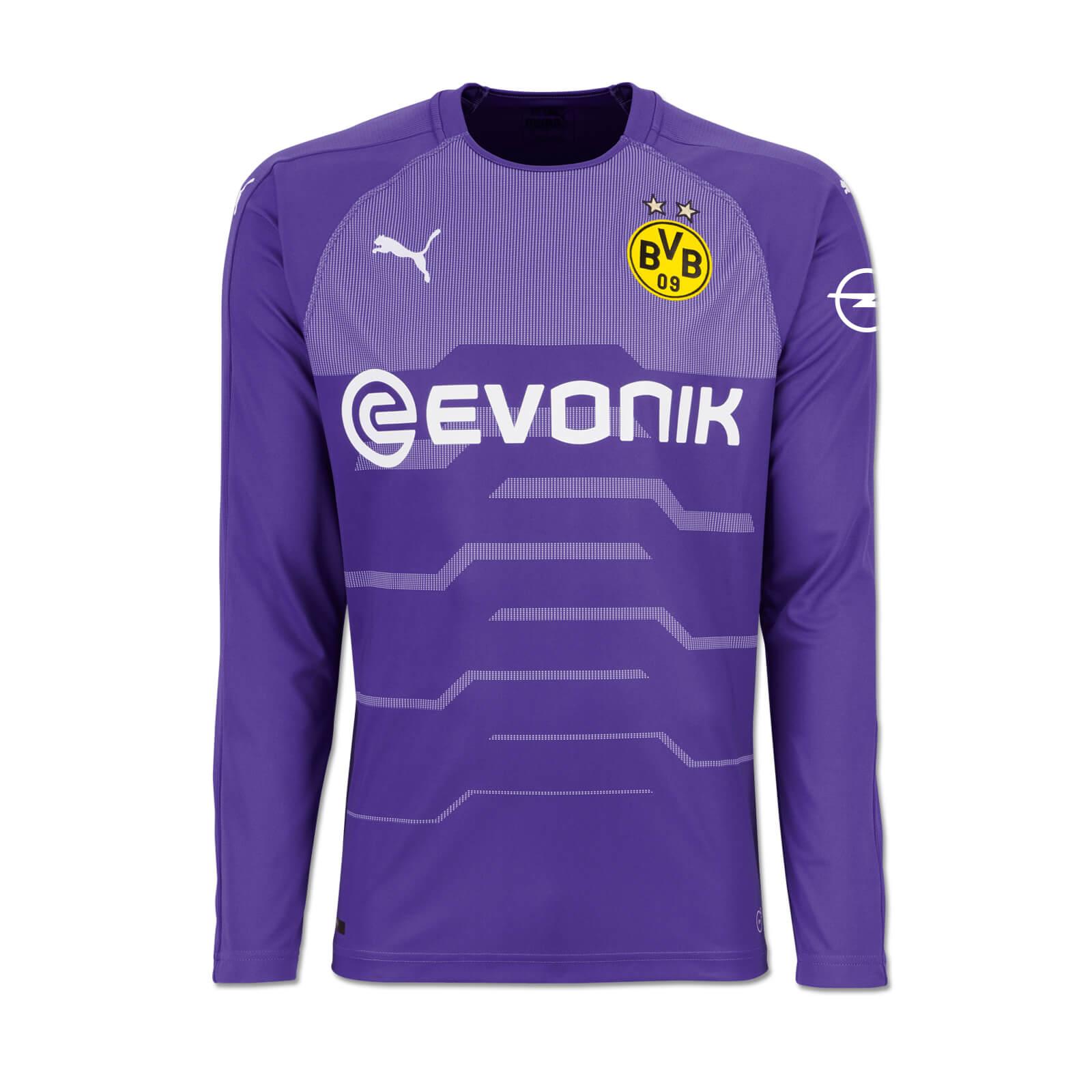 the latest 0705d e2cc5 Borussia Dortmund Goalkeeper Jersey 2018-19 - violet