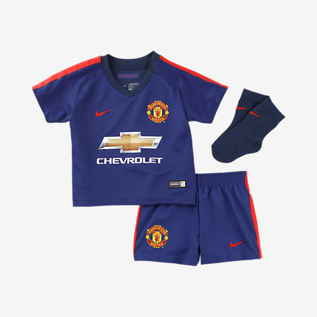 sports shoes 0c5ce f7a83 Manchester United Infants Third Football Kit 2014-15