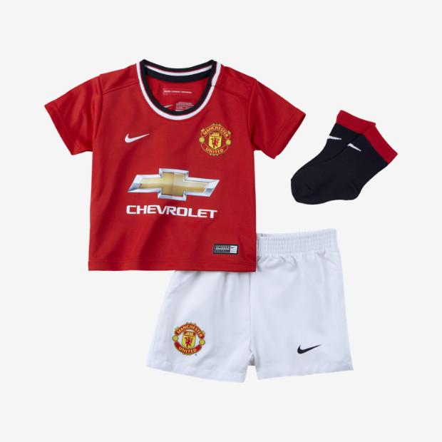 best website e9699 94fd8 Manchester United Infants Home Football Kit 2014-15