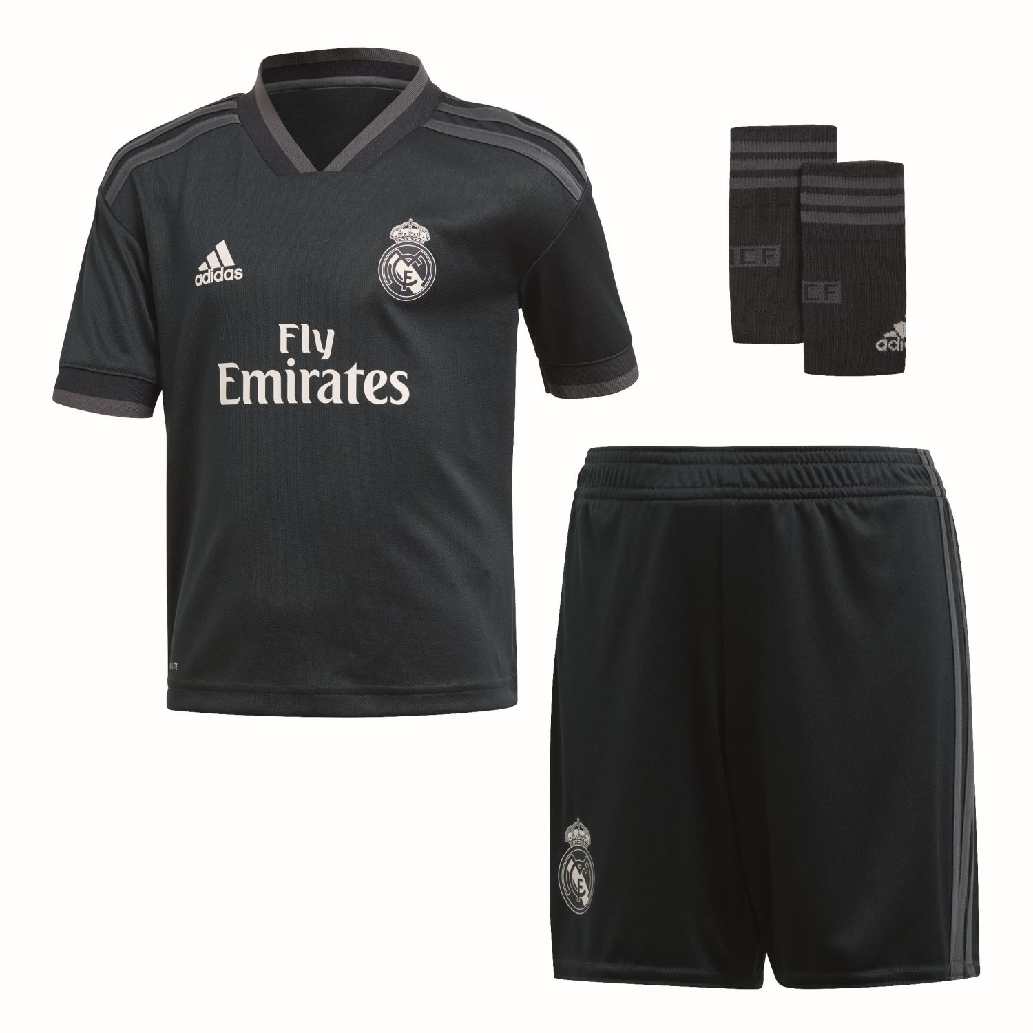 best authentic 75b05 a4d33 Real Madrid Away Little Boys Football Kit 2018-19