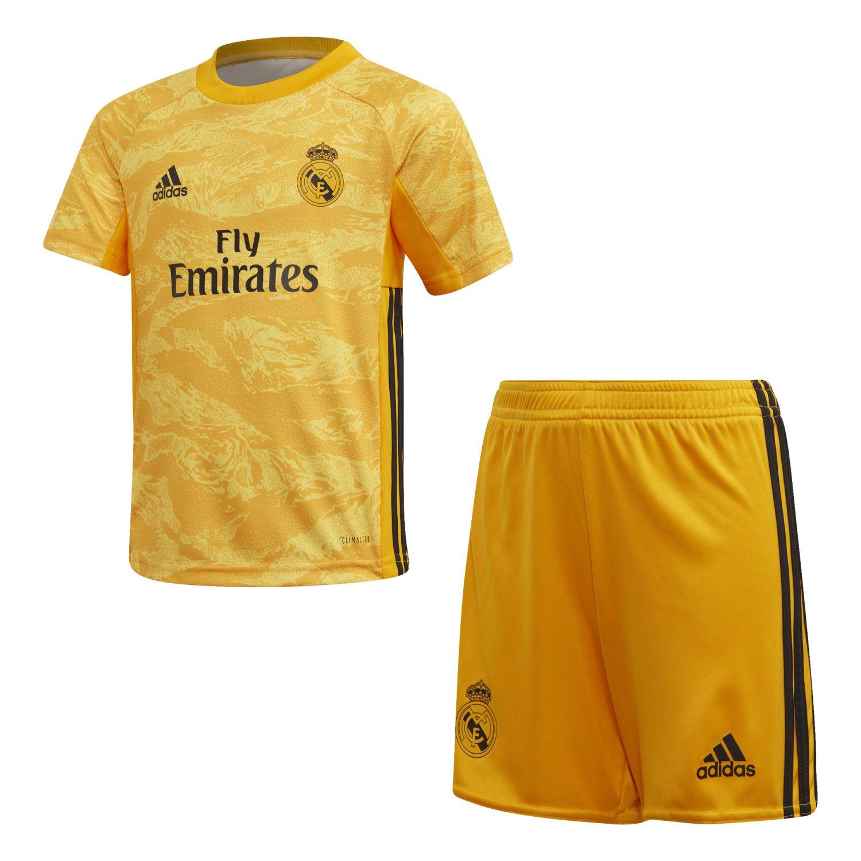 Real Madrid Little Boys Goalkeeper Football Kit 2019 20